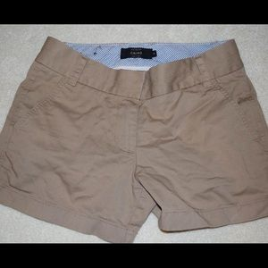 J Crew Tan Chino Shorts